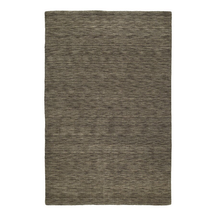 Kaleen Regale 8-ft x 11-ft Rectangular Brown Solid Wool Area Rug