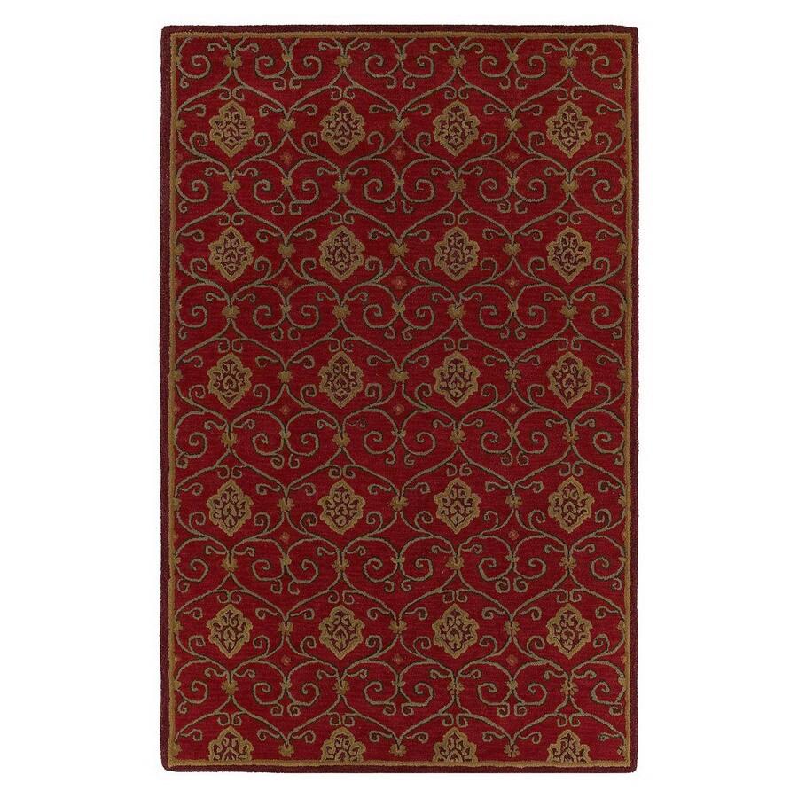 Kaleen Khazana 8-ft x 11-ft Rectangular Multicolor Transitional Wool Area Rug