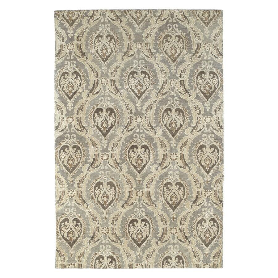 Kaleen Magi Rectangular Gray Transitional Wool Area Rug (Common: 8-ft x 10-ft; Actual: 8-ft x 10-ft)
