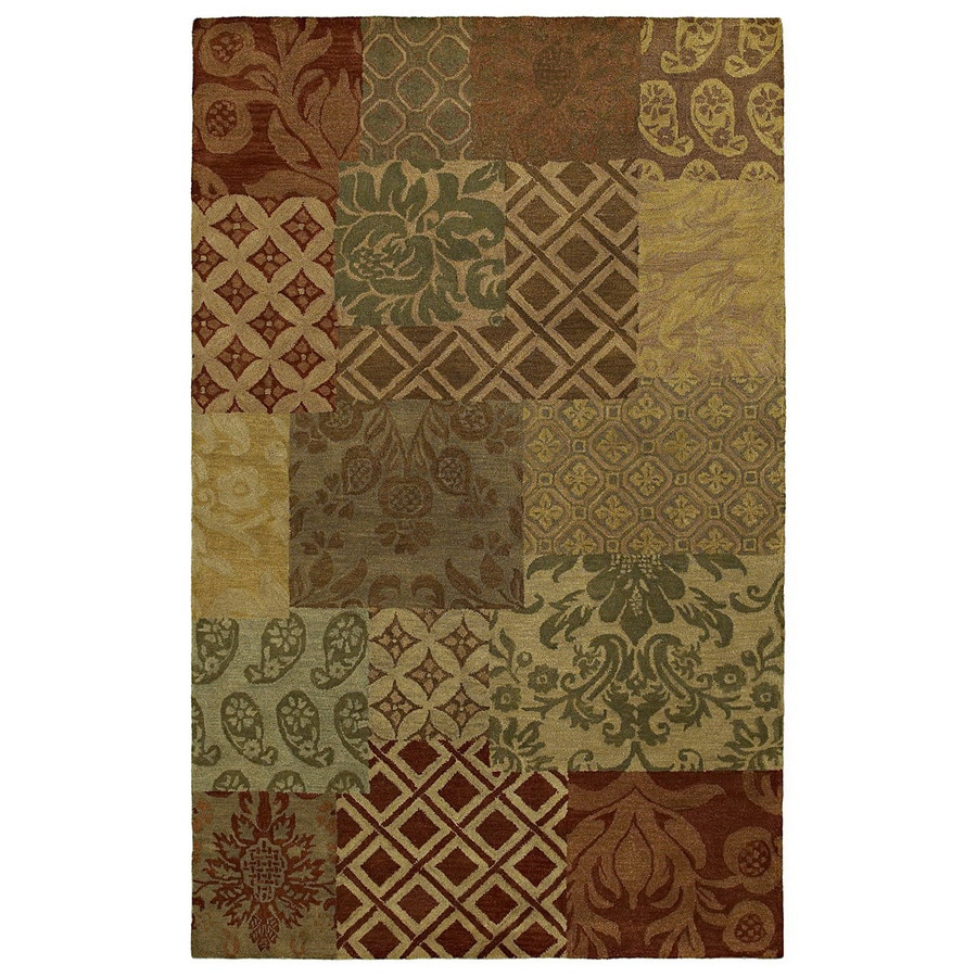 Kaleen Magi Rectangular Multicolor Transitional Wool Area Rug (Common: 8-ft x 10-ft; Actual: 8-ft x 10-ft)