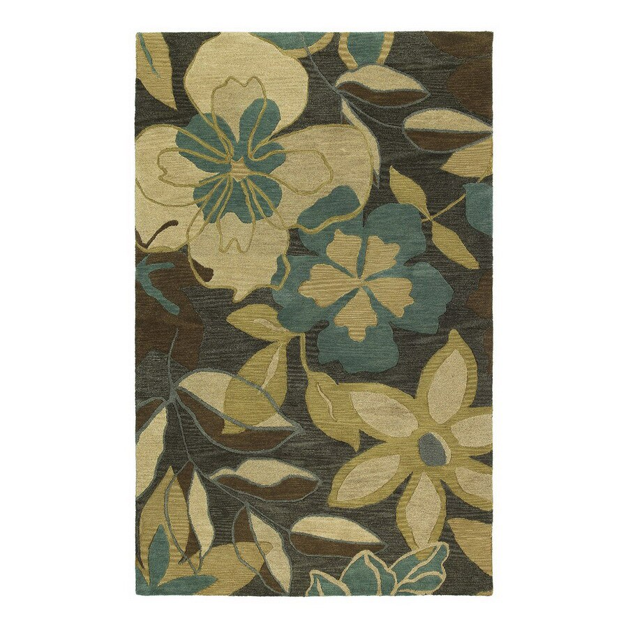 Kaleen Calais Rectangular Multicolor Floral Wool Area Rug (Common: 8-ft x 11-ft; Actual: 8-ft x 11-ft)