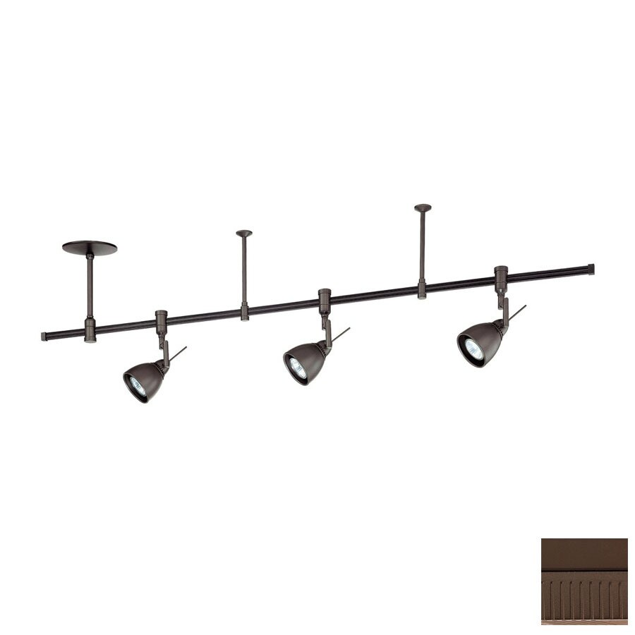 Kendal Lighting 3-Light 48-in Oil-Rubbed Bronze Flexible Track Light with Oil-Rubbed Bronze Glass