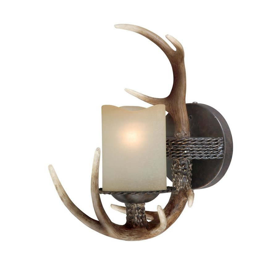 Cascadia Lighting Yoho 5-in W 1-Light Black Walnut Arm Hardwired Wall Sconce