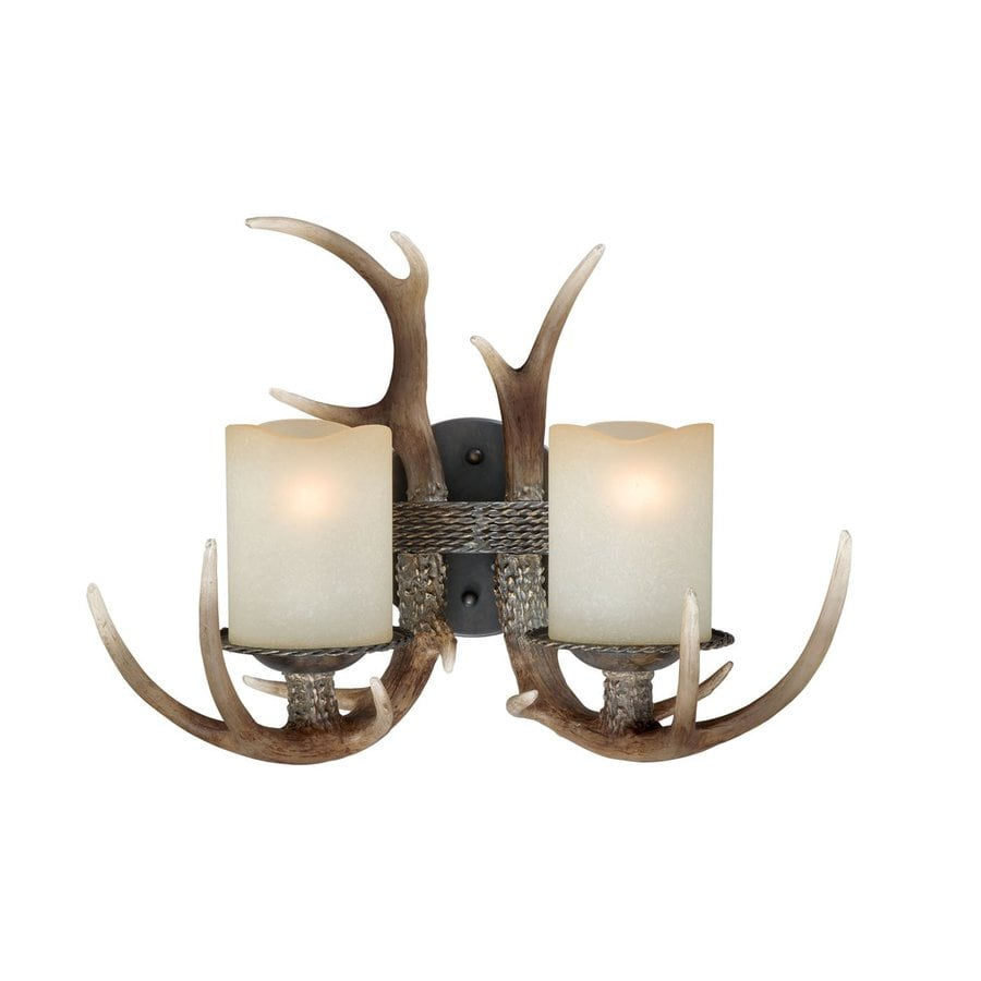Cascadia Lighting Yoho 16.75-in W 2-Light Black Walnut Arm Wall Sconce