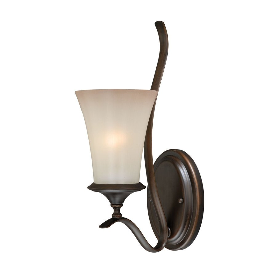 Cascadia Lighting Sonora 5.5-in W 1-Light Venetian Bronze Arm Hardwired Wall Sconce
