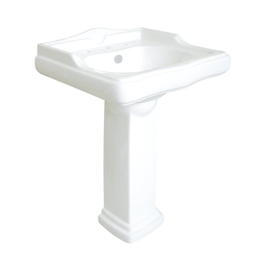 Elements of Design English Country 33.25-in H White Vitreous China Complete Pedestal Sink