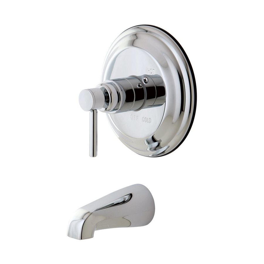 Elements of Design Concord Chrome 1-Handle-Handle Adjustable Wall Mount Bathtub Faucet