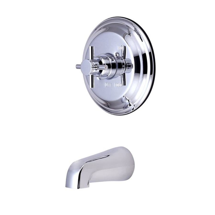 Elements of Design Tampa Chrome 1-Handle Fixed Wall Mount Bathtub Faucet