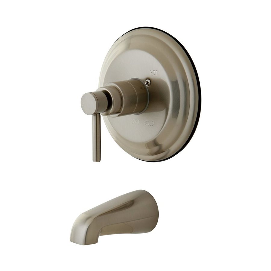 Elements of Design Concord Satin Nickel 1-Handle Fixed Wall Mount Bathtub Faucet
