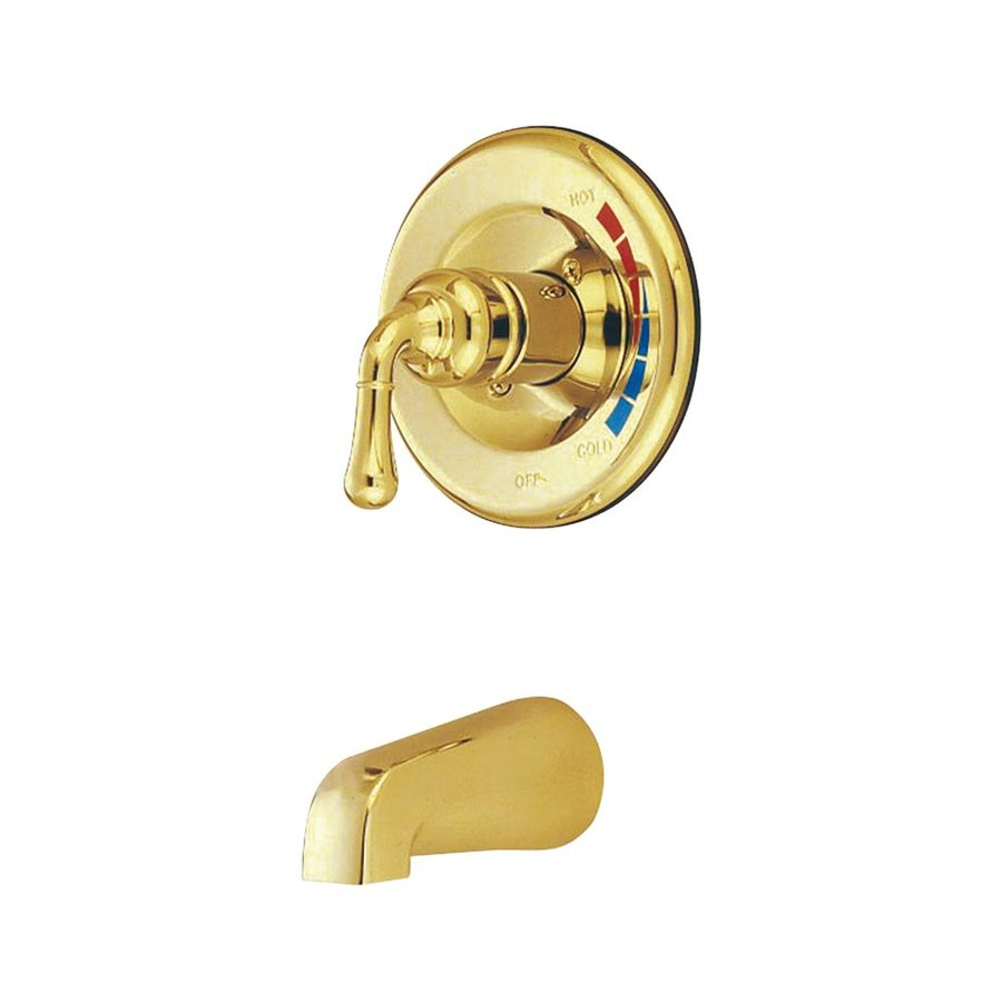 Elements of Design St. Charles Polished Brass 1-Handle Fixed Wall Mount Bathtub Faucet