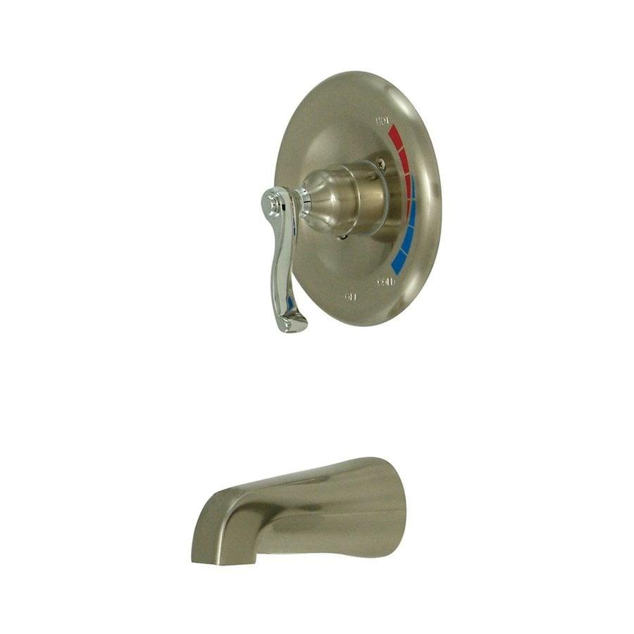 Elements of Design Satin Nickel/Chrome 1-Handle Wall Mount Bathtub Faucet