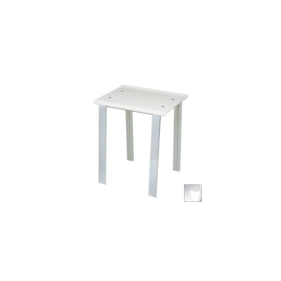 WS Bath Collections White Plastic Freestanding Shower Seat
