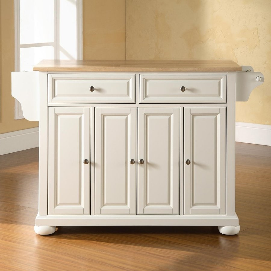 Crosley Furniture 52-in L x 18-in W x 34-in H White Kitchen Island