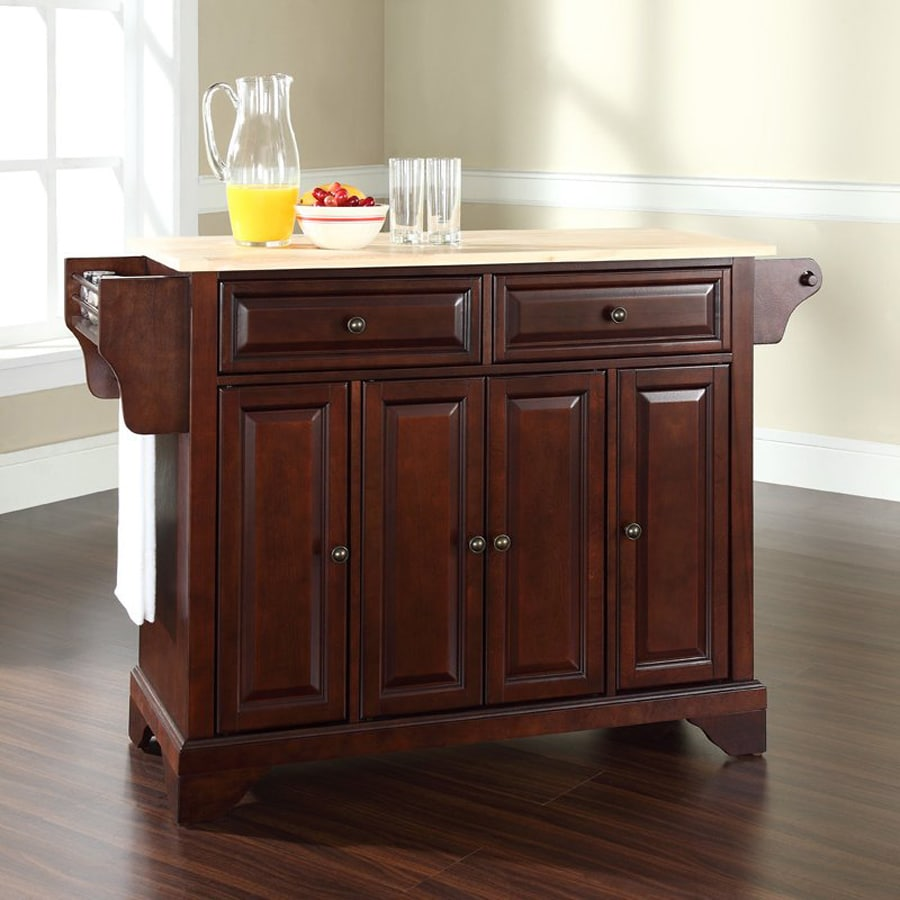 Crosley Furniture 52-in L x 18-in W x 34-in H Brown Kitchen Island