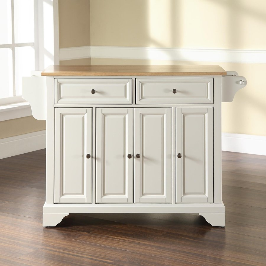 36 x 36 kitchen island shop crosley furniture 52 in l x 18 in w x 36 in h white 7338