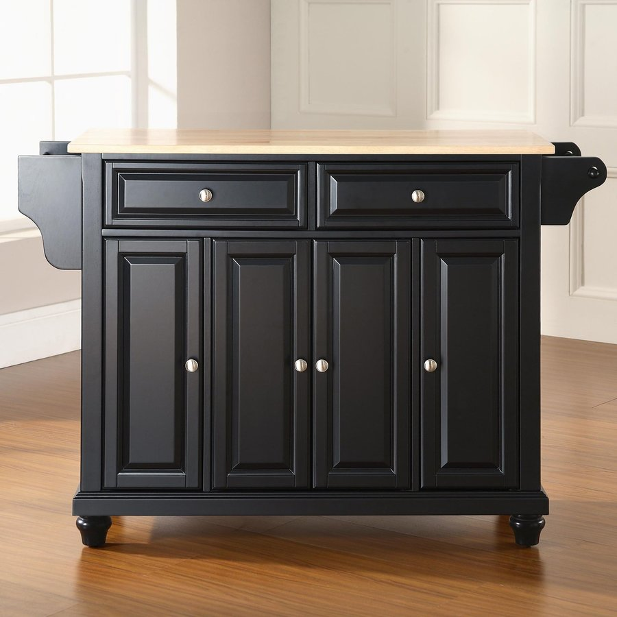 Crosley Furniture 52-in L x 18-in W x 36-in H Black Kitchen Island