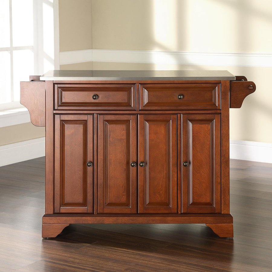 Kitchen Island Furniture Product: Shop Crosley Furniture Brown Craftsman Kitchen Island At
