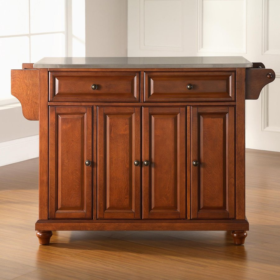 Crosley Furniture 52-in L x 18-in W x 36-in H Brown Kitchen Island