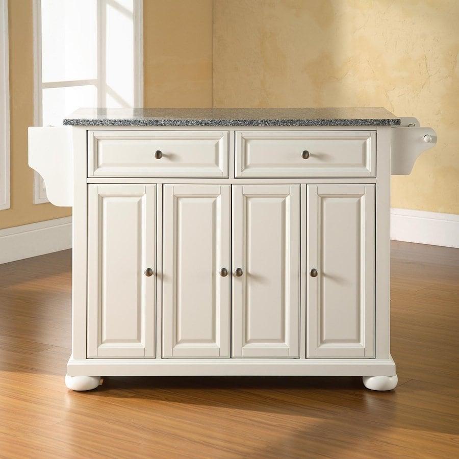 Crosley Furniture 52-in L x 18-in W x 34-in H White Kitchen Island