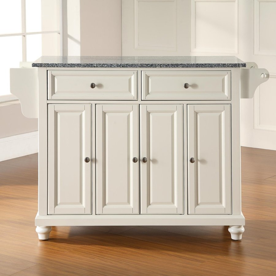 Crosley Furniture White Craftsman Kitchen Island