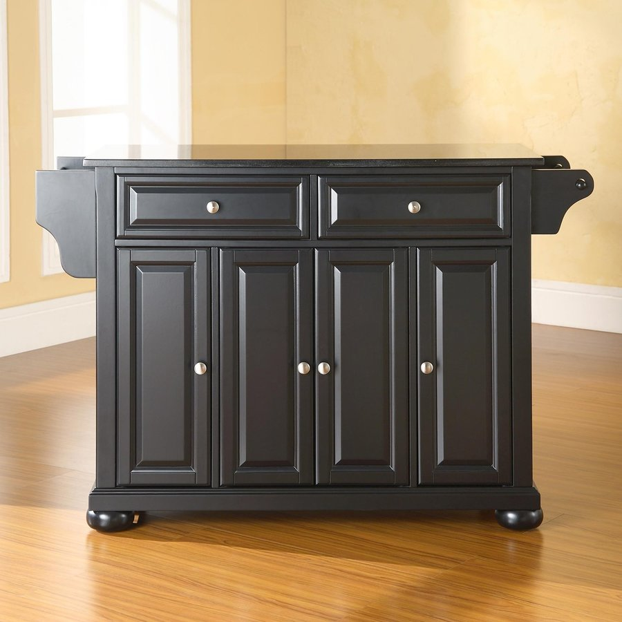 Crosley Furniture 52-in L x 18-in W x 34-in H Black Kitchen Island