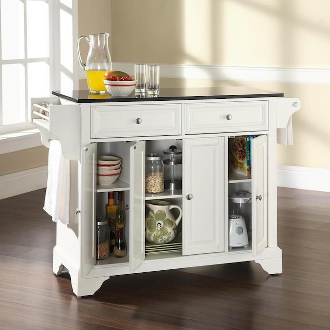 crosley furniture white craftsman kitchen island at lowes