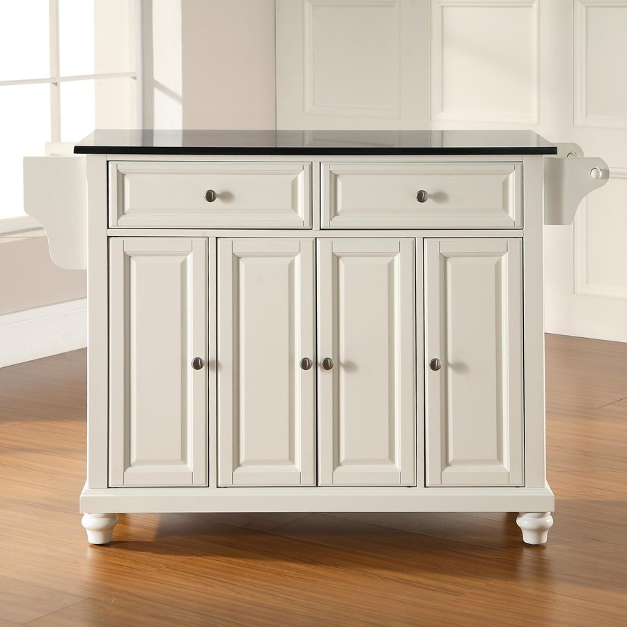 Crosley Furniture Kitchen Island Shop Crosley Furniture 52 In L X 18 In W X 36 In H White Kitchen