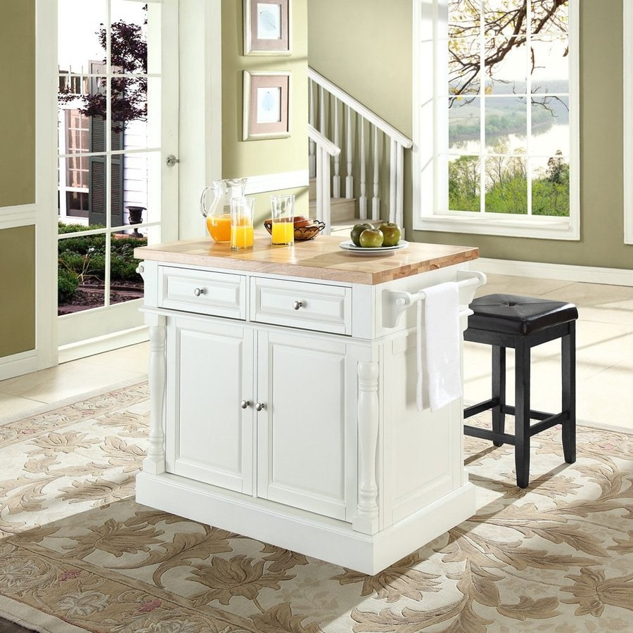 Crosley Furniture 48.25-in L x 23-in W x 36-in H White Kitchen Island
