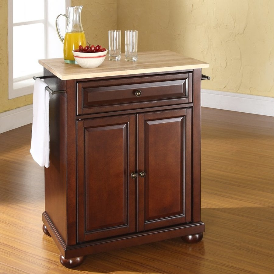Kitchen Island Furniture Product: Crosley Furniture Brown Craftsman Kitchen Island At Lowes.com
