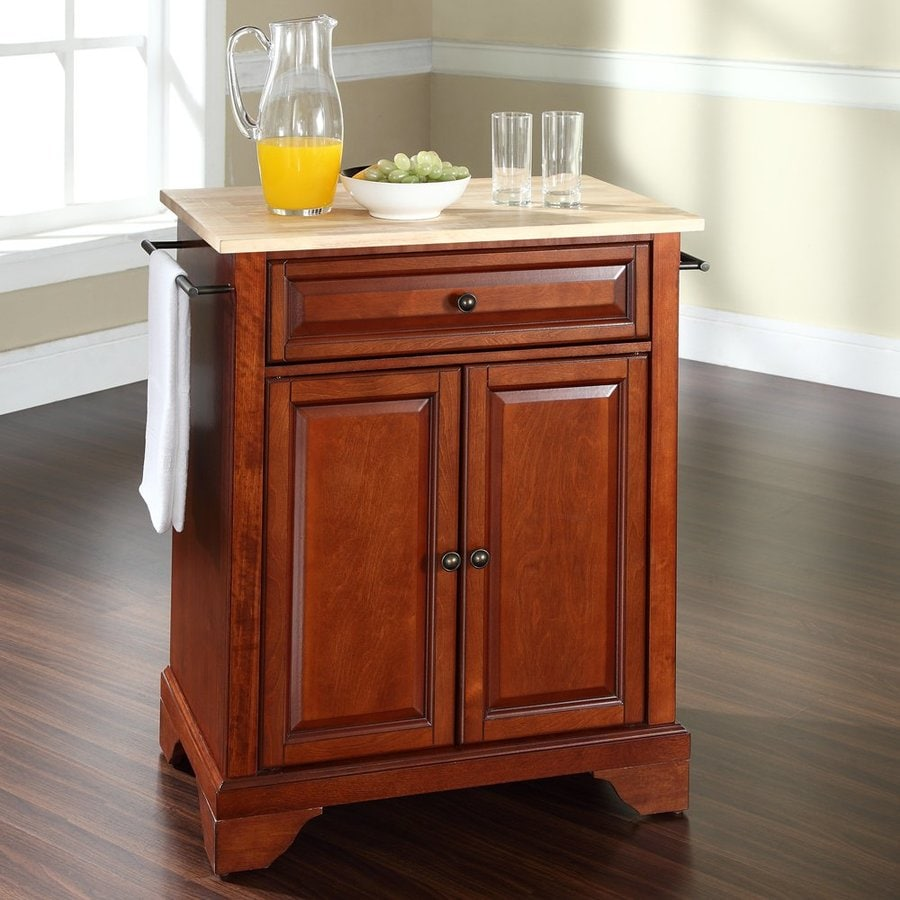 kitchen islands at lowes shop crosley furniture brown craftsman kitchen island at 5247