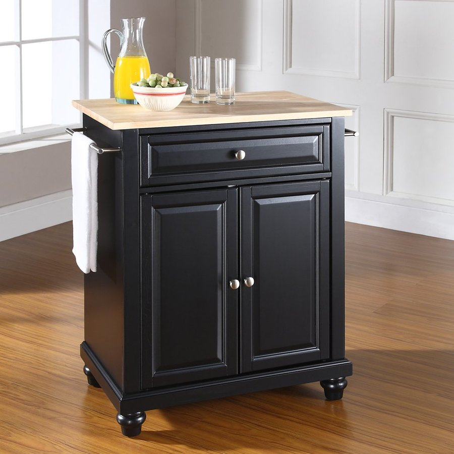 Crosley Furniture 28.25-in L x 18-in W x 36-in H Black Kitchen Island