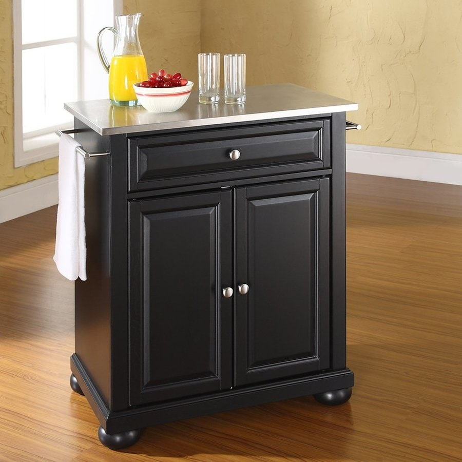 Crosley Furniture Black Craftsman Kitchen Island