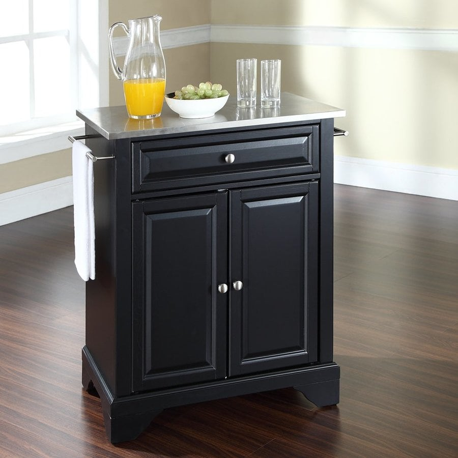 Shop Home Styles Black Scandinavian Kitchen Carts At Lowes Com: Shop Crosley Furniture Black Craftsman Kitchen Island At