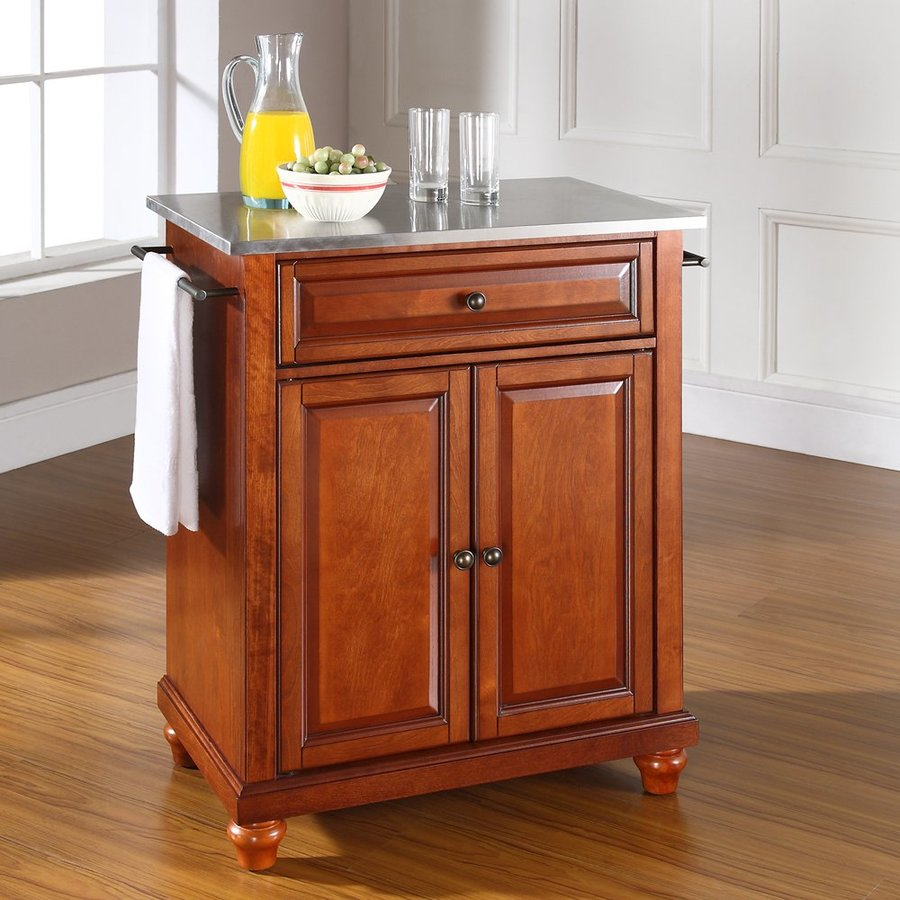 Crosley Furniture 28.25-in L x 18-in W x 36-in H Brown Craftsman Kitchen Islands