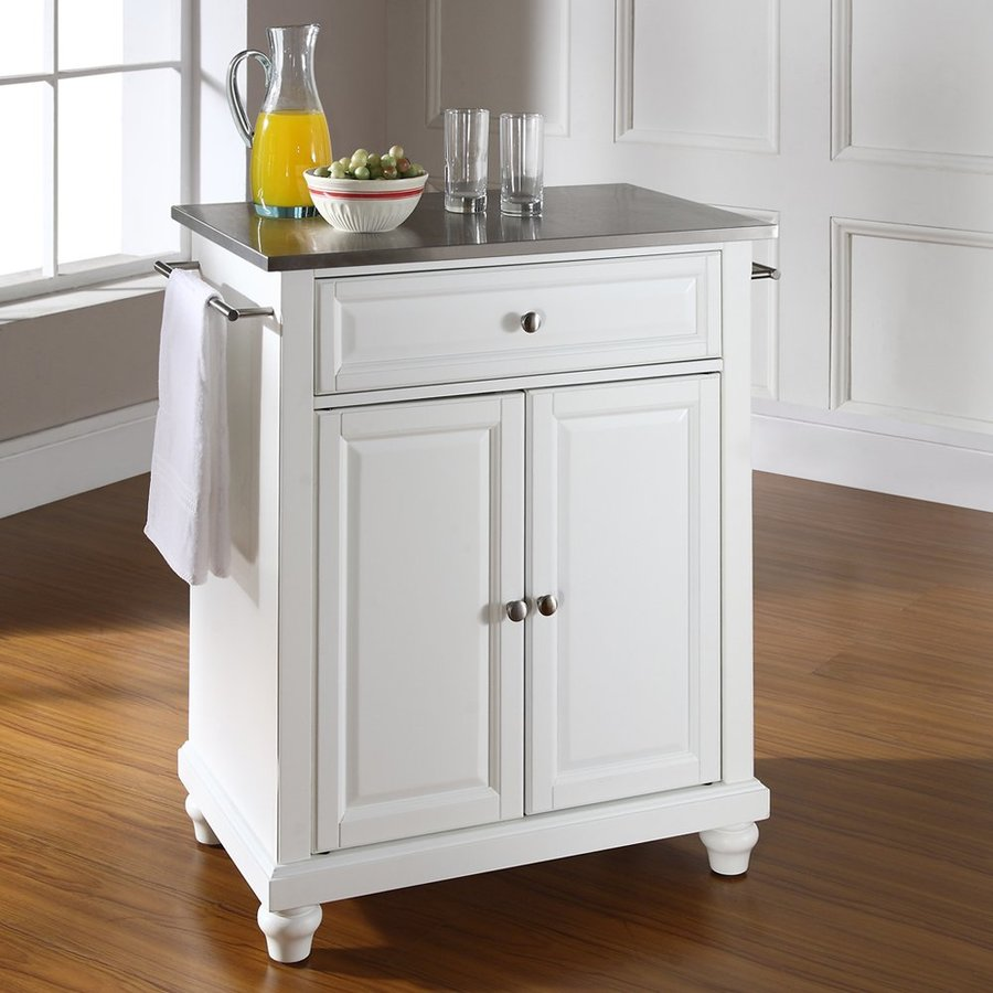 Crosley Furniture 28.25-in L x 18-in W x 36-in H White Kitchen Island
