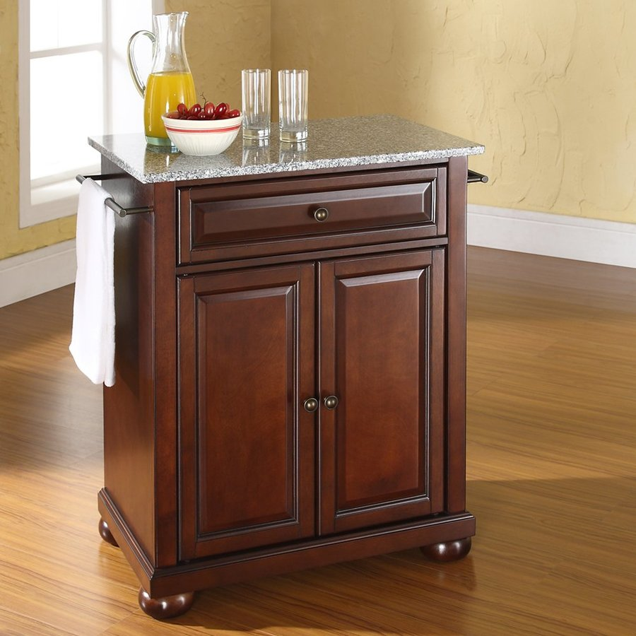 Shop Crosley Furniture Brown Craftsman Kitchen Island at ...