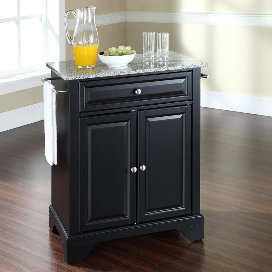 Crosley Furniture 28.25-in L x 18-in W x 36-in H Black Craftsman Kitchen Islands