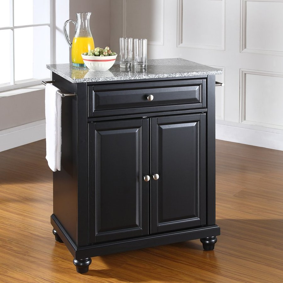 Crosley Furniture Black Craftsman Kitchen Island