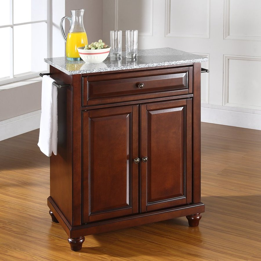 Home Styles Brown Midcentury Kitchen Islands At Lowes Com: Shop Crosley Furniture Brown Craftsman Kitchen Island At