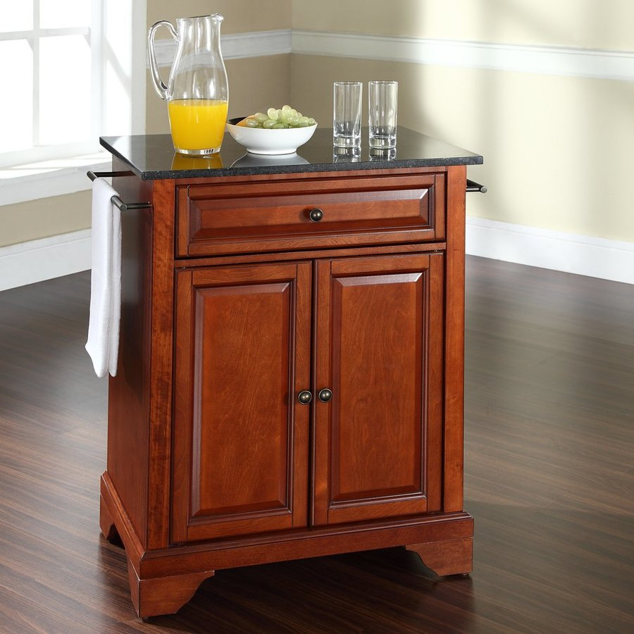 Crosley Furniture 28.25-in L x 18-in W x 36-in H Classic Cherry Kitchen Island