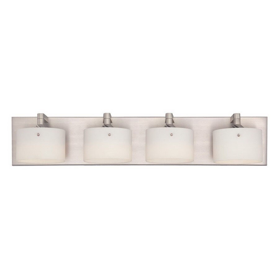 philips bathroom lighting shop philips forecast 4 light yo yo satin nickel led 13961