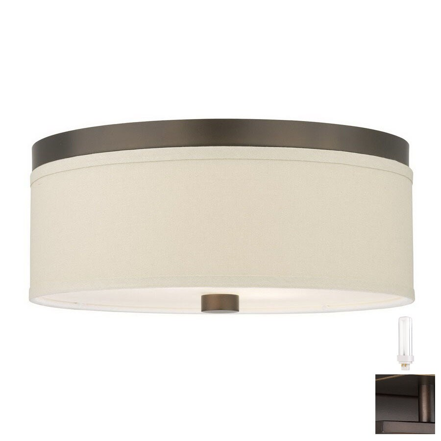Philips Forecast 14.875-in W Sorrel Bronze Art Glass Ceiling Flush Mount
