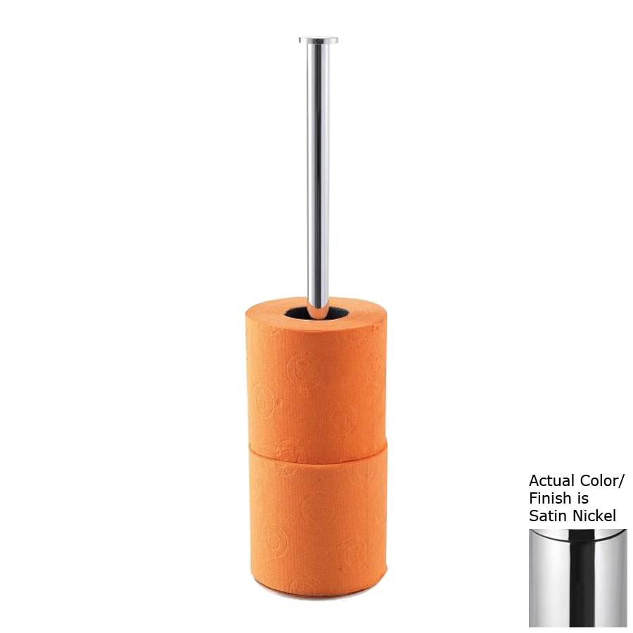 Nameeks Stilhaus Satin Nickel Freestanding Countertop Toilet Paper Holder