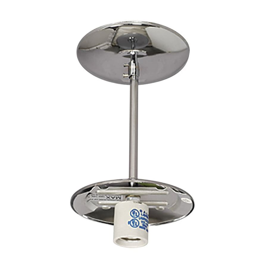 Galaxy 5.125-in W Polished Chrome Semi-Flush Mount Light