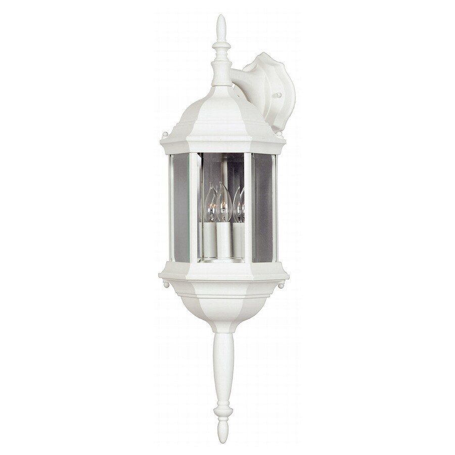 Kenroy Home Custom Fit 26-in H White Outdoor Wall Light