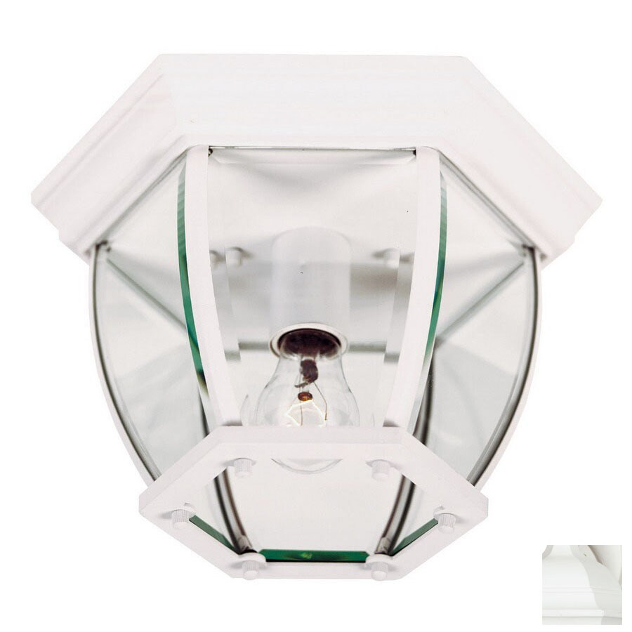 Kenroy Home Dural 11-in W White Outdoor Flush-Mount Light