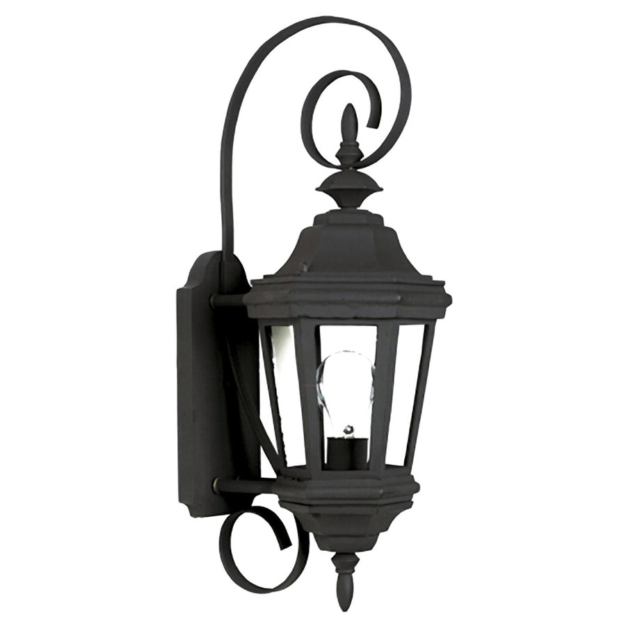 Kenroy Home Estate 21.75-in H Black Medium Base (E-26) Outdoor Wall Light