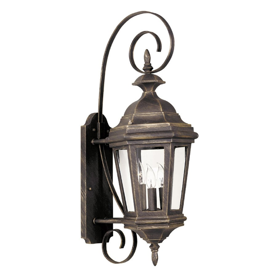 Kenroy Home Estate 26-in H Antique Patina Outdoor Wall Light