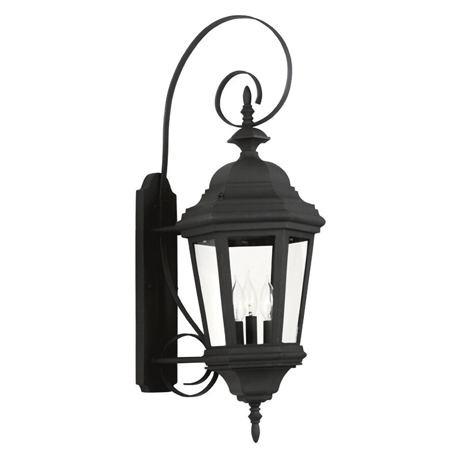 Kenroy Home Estate 30-in H Black Outdoor Wall Light