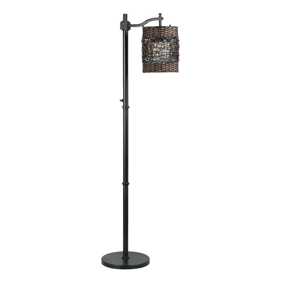 Kenroy Home Brent 60-in Oil Rubbed Bronze Downbridge Floor Lamp with Plastic Shade